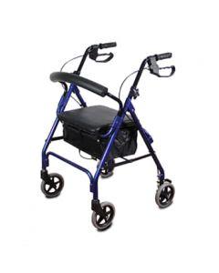 רולטור 4 גלגלים אלומיניום GL-2400 כחול | אדום
