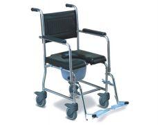 כסא רחצה ושירותים נירוסטה משופר עם מושב רך