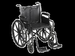כסא גלגלים מתקפל בסיסי רוחב 45