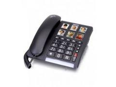 טלפון שולחני מותאם עם קול מוגבר וכפתורים ברורים