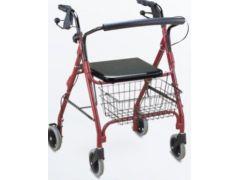 רולטור 4 גלגלים קל כחול   אדום