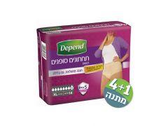 תחתונים סופגים לאישה דיפנד לייקרה גזרה גבוהה DEPEND M L XL
