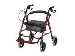 רולטור 4 גלגלים עם רגלית לשני כיוונים לישיבה סטטית