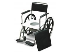 """כסא רחצה ושירותים הנעה עצמית  נירוסטה עד 120 ק""""ג"""